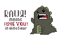 Rawr Means I Love You in Dinosaur Cross Stitch Pattern Download