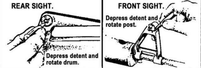 Figure 101.  Rear sight detent and front sight detent.