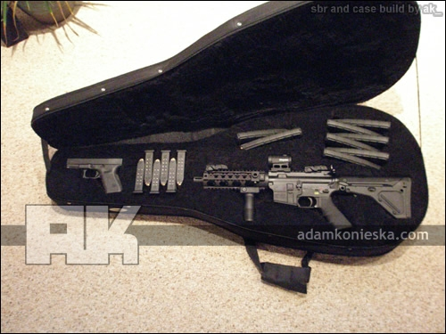 SBR AR15 and Guitar Gun Case